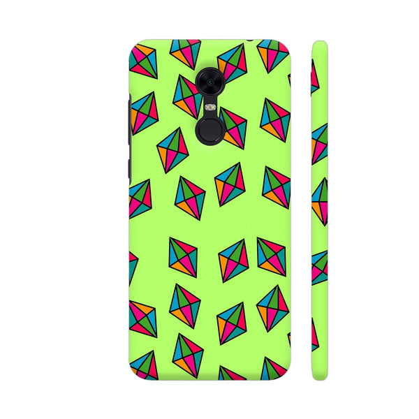Diamond Pattern On Green Redmi Note 5 Cover | Artist: Malls