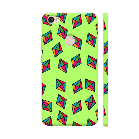 Diamond Pattern On Green Redmi Y1 Cover | Artist: Malls