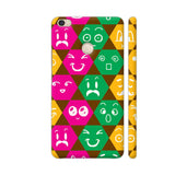 Different Emoticons In Multicolored Hexagons Xiaomi Mi Max Cover | Artist: Sangeetha