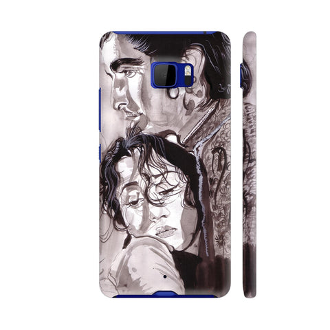 Dilip Kumar And Madhubala In Mughaleazam HTC U Ultra Cover | Artist: HeartAtArt