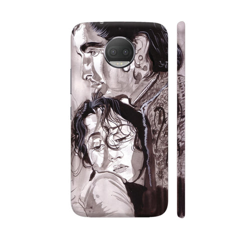 Dilip Kumar And Madhubala In Mughaleazam Moto G5S Plus Cover | Artist: HeartAtArt