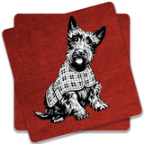 Dog Pet Cute Animal Coaster | Artist: WonderfulDreamPicture