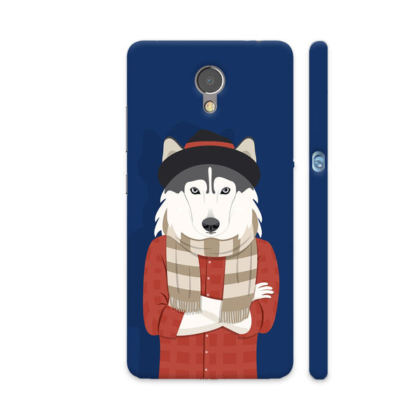Dog Swag In Blue Lenovo P2 Cover | Artist: Abhinav