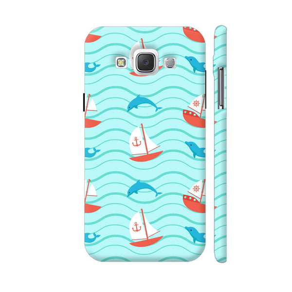Dolphins Boats Pattern Samsung Galaxy E5 Case
