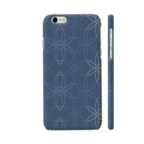 Dotted Flowers Pattern On Blue iPhone 6 / 6s Cover | Artist: Astha