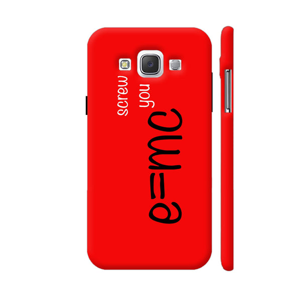 E=mc Screw You Samsung Galaxy E5 Case