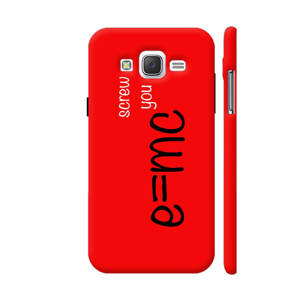 E=mc Screw You Samsung Galaxy J5 Case