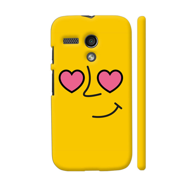 Emoticon 1 On Yellow Motorola Moto G1 Case