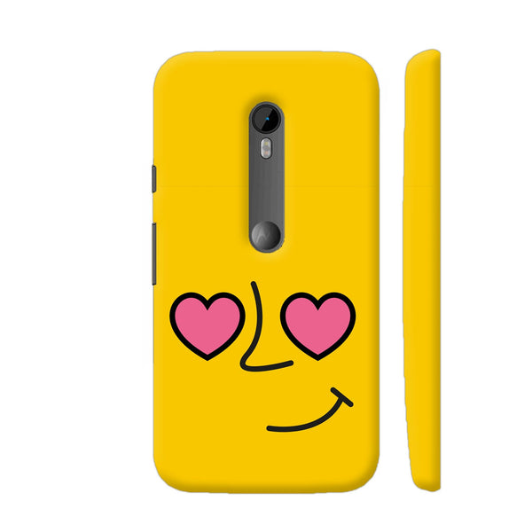 Emoticon 1 On Yellow Moto G Turbo Cover | Artist: Abhinav