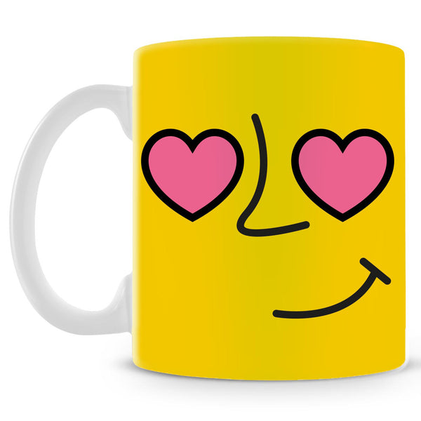Emoticon 1 On Yellow Mug