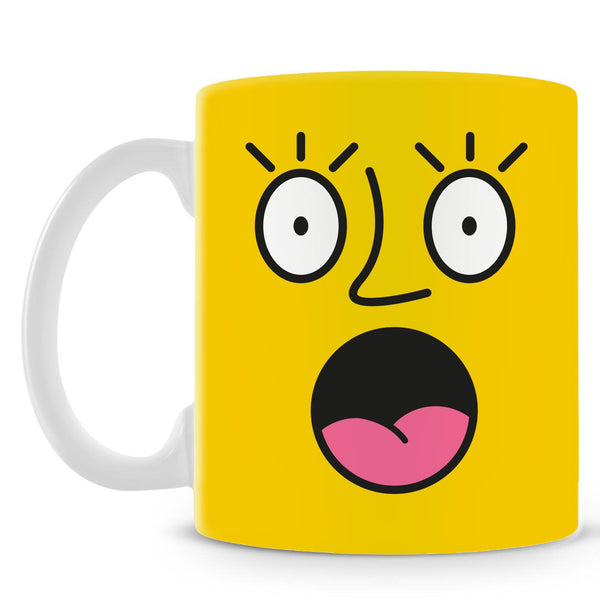 Emoticon 2 On Yellow Mug