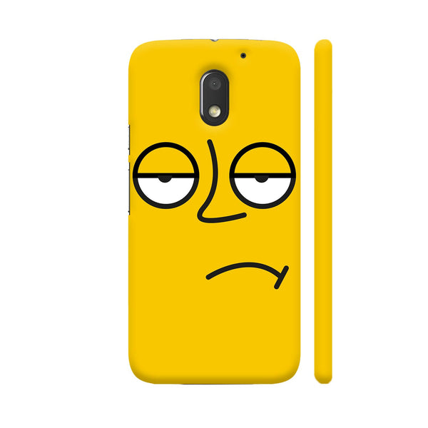 Emoticon 3 On Yellow Motorola Moto E3 / Moto E3 Power Case