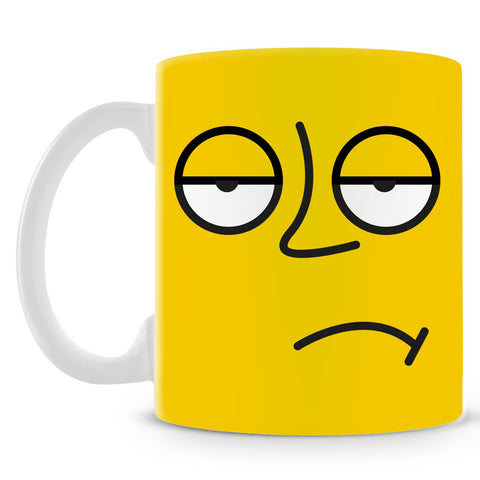 Emoticon 3 On Yellow Mug