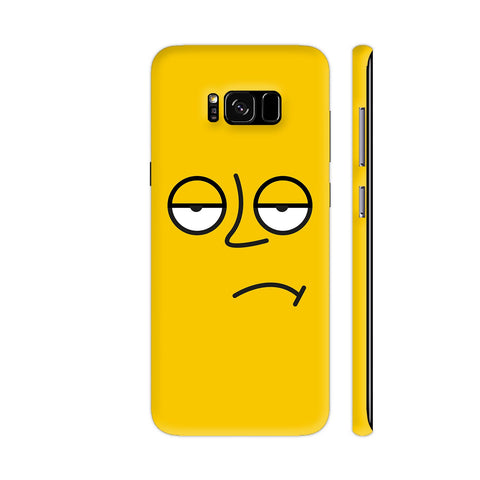 Emoticon 3 On Yellow Samsung Galaxy S8 Cover | Artist: Abhinav