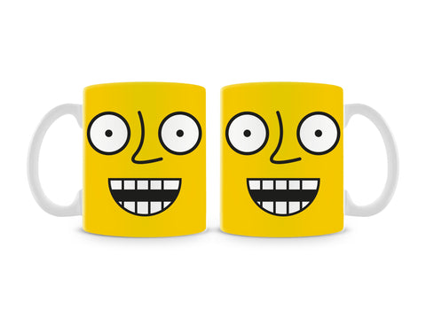Emoticon 4 On Yellow Mug (Set of 2)
