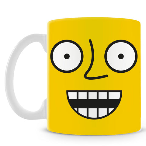 Emoticon 4 On Yellow Mug