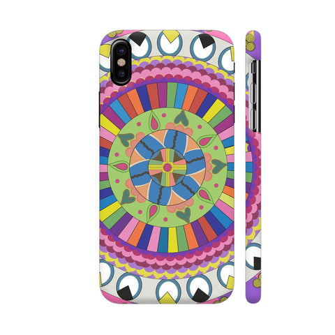 Energy And Inspirational Heart Chakra Mandala iPhone X Cover | Artist: Srishti Vataa Healing Arts
