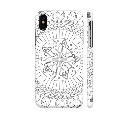 Energy And Inspirational Heart Chakra Mandala White iPhone X Cover | Artist: Srishti Vataa Healing Arts