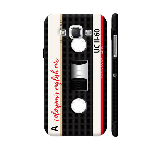 English Mix Cassette Black Samsung Galaxy E5 Case