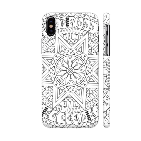 Enlightenment Chakra Mandala White iPhone X Cover | Artist: Srishti Vataa Healing Arts