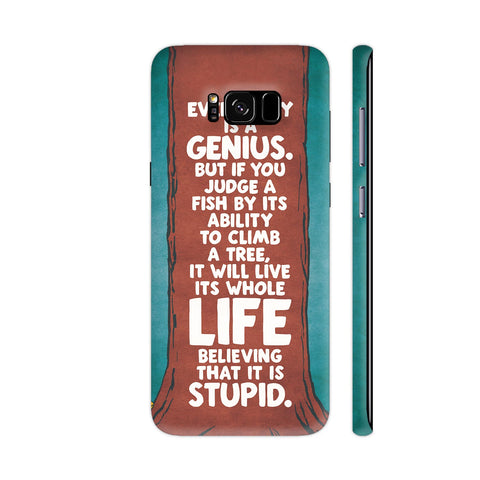 Everybody Is A Genius Typography Samsung S8+ Cover | Artist: Zen Pencils