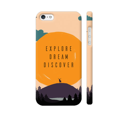 Explore Dream Discover iPhone SE Cover | Artist: Disha