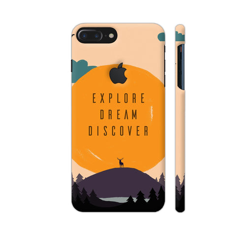 Explore Dream Discover iPhone 7 Plus Logo Cut Cover | Artist: Disha