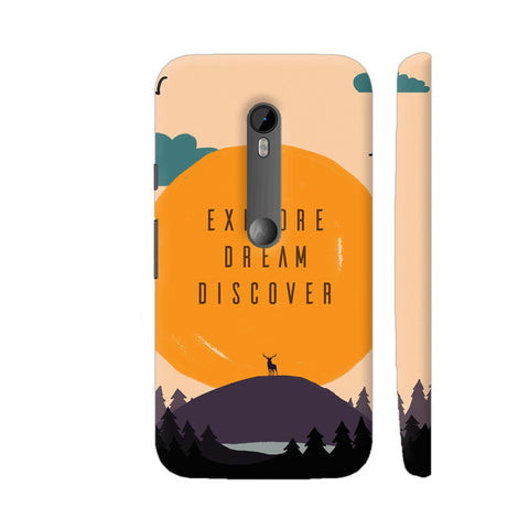Explore Dream Discover Moto G Turbo Cover | Artist: Disha