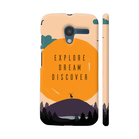 Explore Dream Discover Moto X1 Cover | Artist: Disha