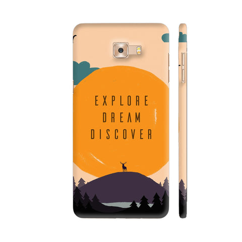 Explore Dream Discover Samsung Galaxy C9 Pro Cover | Artist: Disha
