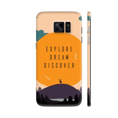 Explore Dream Discover Samsung Galaxy S7 Edge Cover | Artist: Disha