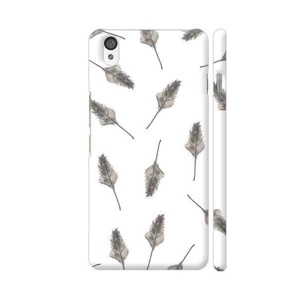 Feathers On White OnePlus X Cover | Artist: Adeela Abdul Razak