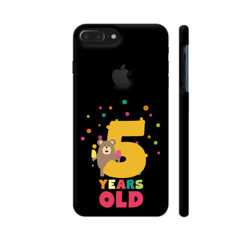 Five Years Fifth Birthday Party Grizzly iPhone 7 Plus Logo Cut Cover | Artist: Torben