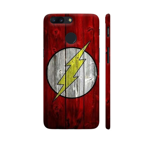 Flash On Red Wood Print OnePlus 5T Cover | Artist: Ashish Singh