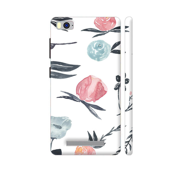 Flora In Watercolor Xiaomi Mi 4i Cover | Artist: Adeela Abdul Razak