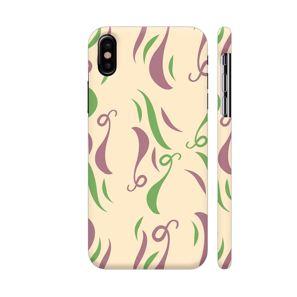 Floral Pattern On Cream iPhone X Cover | Artist: Malls