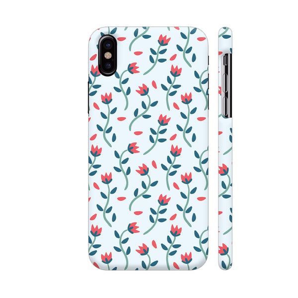 Floral Red Blue iPhone XS Cover | Artist: Abhinav