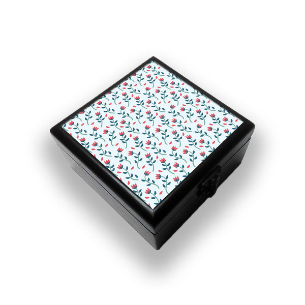 Floral Red Blue Jewellery Box