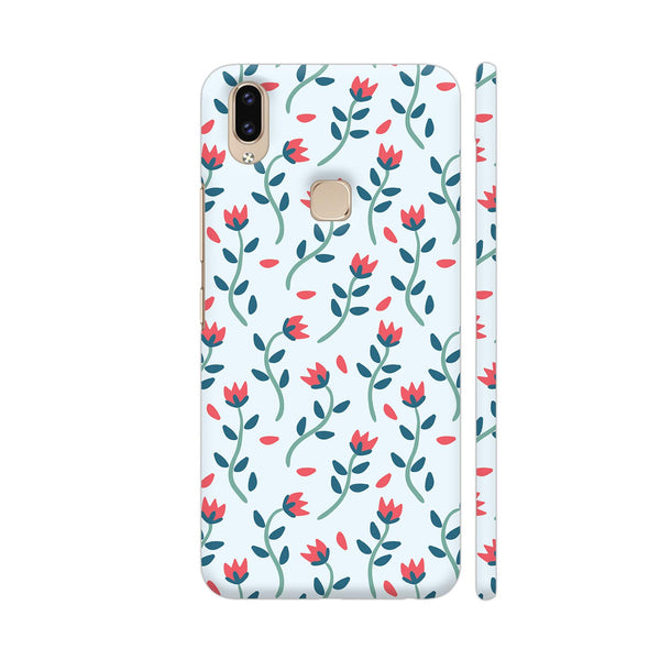 Floral Red Blue Vivo V9 Youth Cover | Artist: Abhinav
