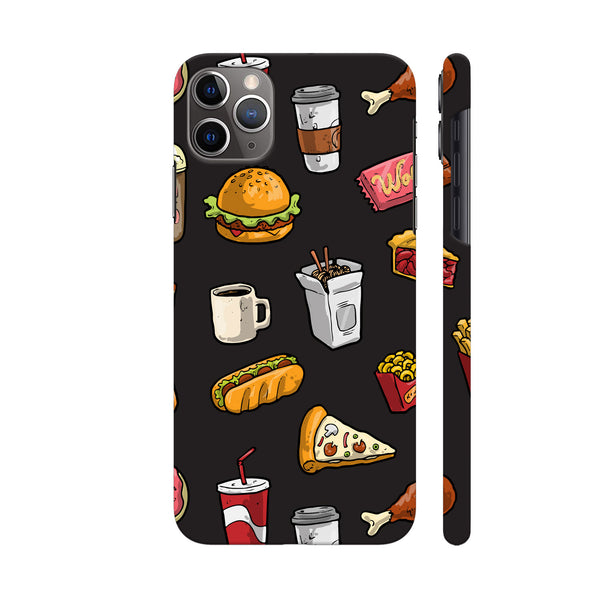 Foodies Delight On Black iphone 11 Pro Cover | Artist: Abhinav