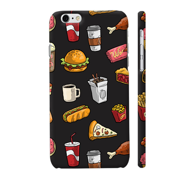 Foodies Delight On Black iPhone 6 / 6s Cover | Artist: Abhinav