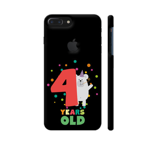 Four Years Fourth Birthday Party Grizzly iPhone 7 Plus Logo Cut Cover | Artist: Torben