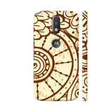 Freehand Drawn Brown Pattern Moto G4 / Moto G4 Plus Cover | Artist: Astha