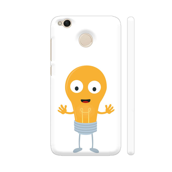 Friendly Light Bulb Happy Xiaomi Redmi 4 Cover | Artist: Torben