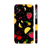 Fruits Dish On Black iPhone X Cover | Artist: Avani