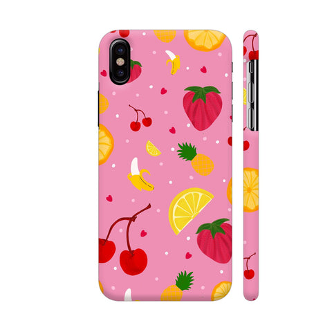 Fruits Dish On Pink iPhone X Cover | Artist: Avani