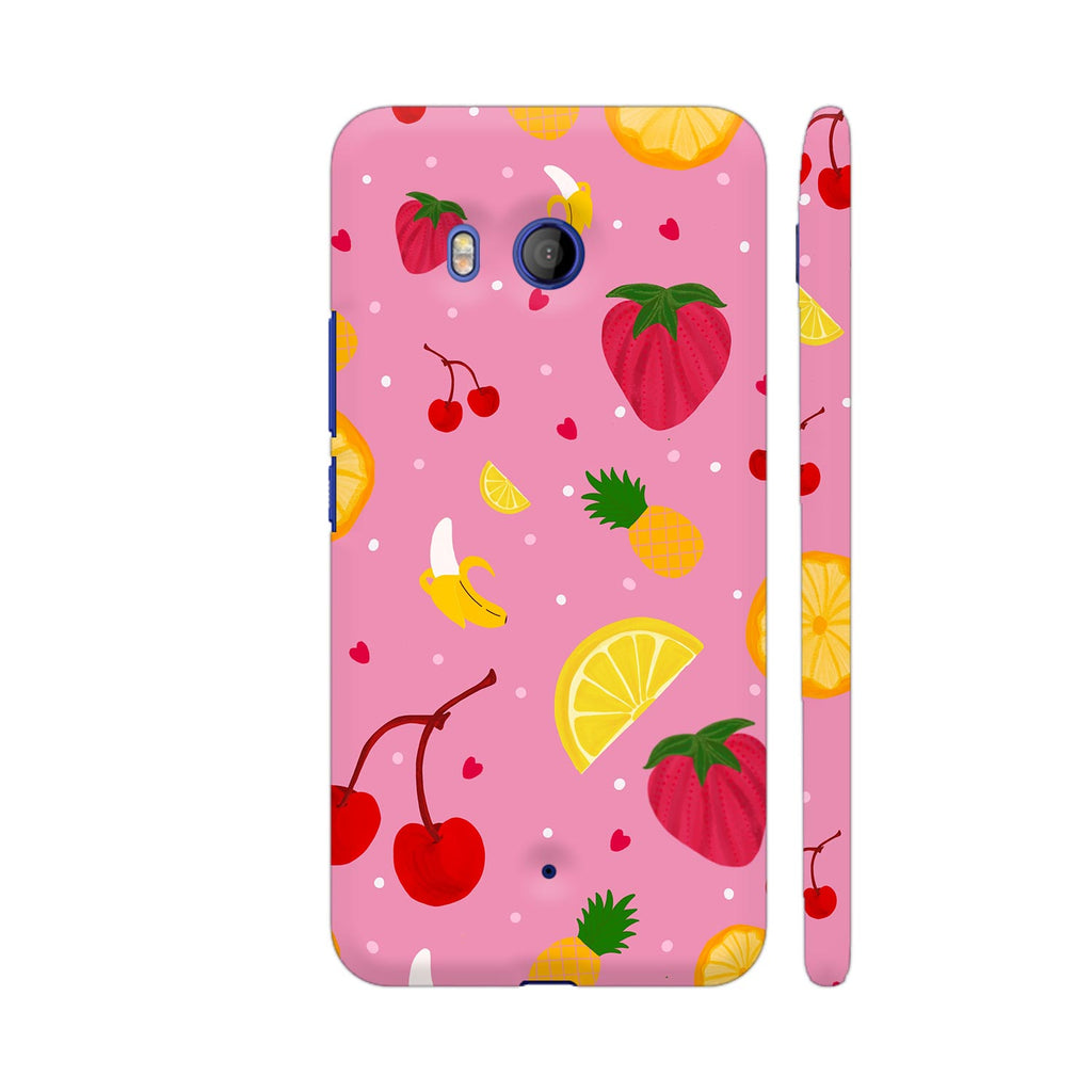 check out 97192 dbf51 Fruits Dish On Pink HTC U11 Cover | Artist: Avani
