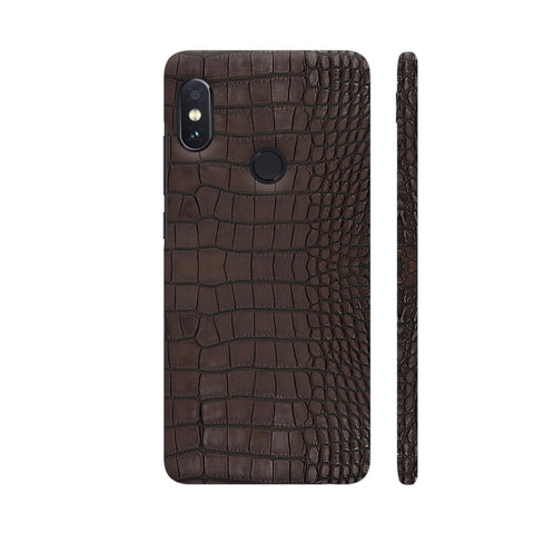 Gator Brown Leather Print Redmi Note 5 Pro Cover | Artist: Looly Elzayat
