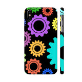 Gear Pattern On Black iPhone X Cover | Artist: Malls