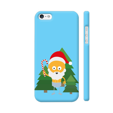 Genius Santa With Christmastree iPhone 5 / 5s Cover | Artist: Torben